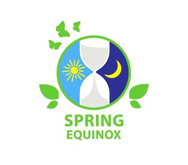 Dag van de lente-equinox en herfst-equinox dag en nacht achtergrond