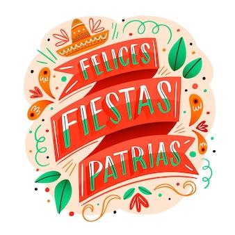 Dag van de onafhankelijkheid van mexico belettering