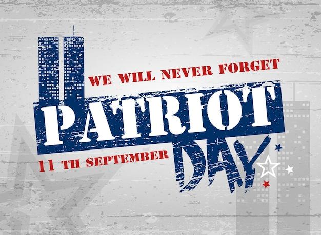 Dag van de patriot. belettering. vector illustratie. poster, kaarten, banners, sjabloon