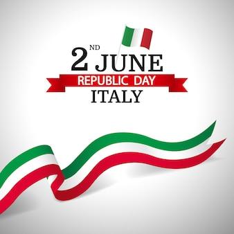 Dag van de republiek italië backgrund