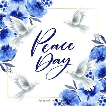 Dag van de vrede concept met letters