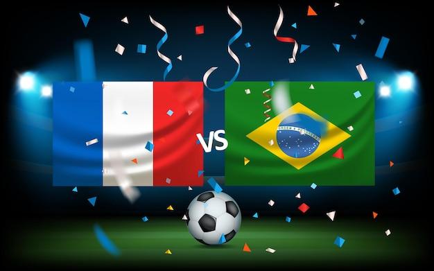 Dag van de wedstrijd. frankrijk versus brazilië