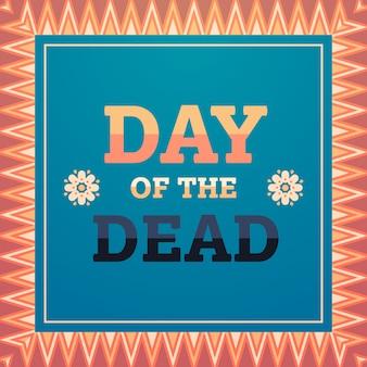 Dag van dode traditionele mexicaanse halloween dia de los muertos vakantie partij decoratie uitnodiging wenskaart plat