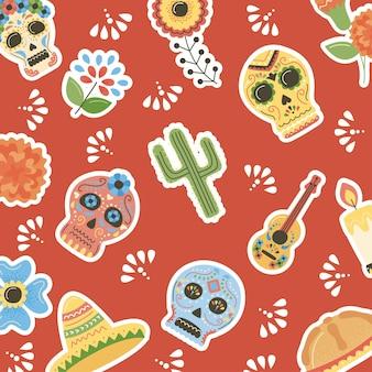 Dag van het dode mexicaanse patroon