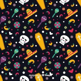 Dag van het dode platte ontwerppatroon