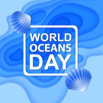 Dag van het water en wereldoceanendag wereldwijd vieren gewijd aan de bescherming en het behoud van oceanen
