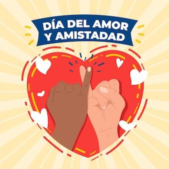 Dag van liefde en vriendschapsevenement