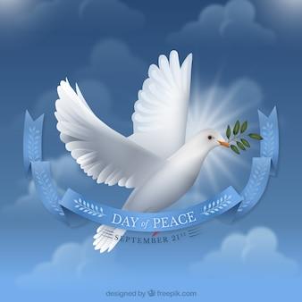 Dag van vrede achtergrond