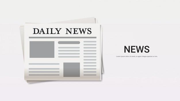 Dagelijks nieuws krant breaking news headline pers massamedia concept kopie ruimte horizontaal