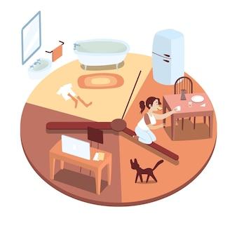 Dagelijkse activiteiten time management concept