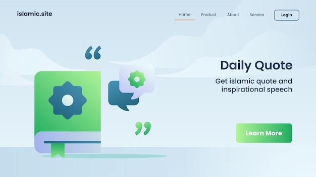 Dagelijkse offerte voor de landing van de websitesjabloon of het ontwerp van de startpagina