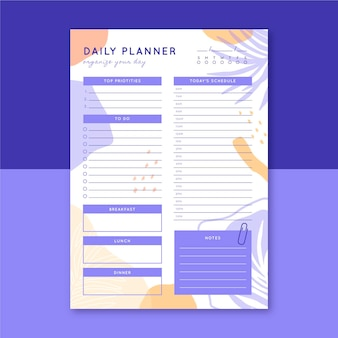 Dagelijkse planner sjabloon