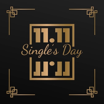 Dagevenement voor zwarte en gouden singles
