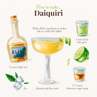 Daiquiri cocktail recept