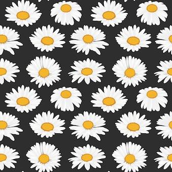 Daisy bloemen naadloos patroon