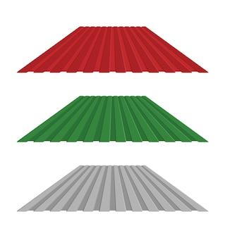 Dak met golfplaatafdekking industrieel gebouw. vector illustratie ontwerp.