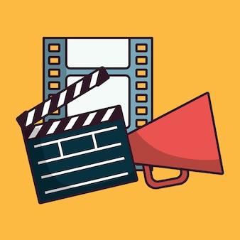 Dakspaan en cinema gerelateerde pictogrammen