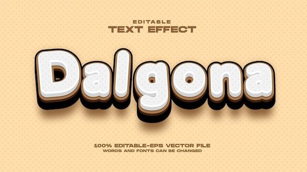 Dalgona coffee teksteffect
