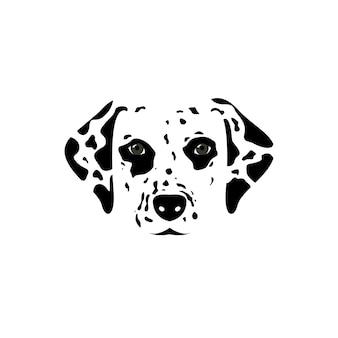 Dalmatische hoofd vectorillustratie.