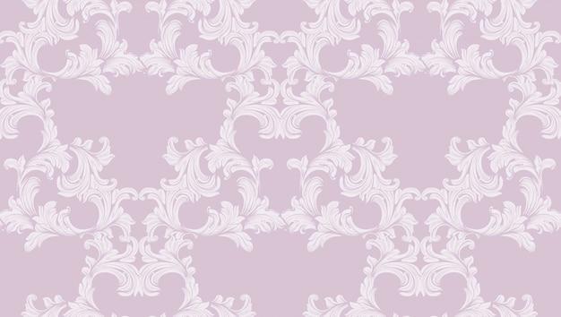 Damast barokke patroon achtergrond. ornament decor voor uitnodiging, bruiloft, wenskaarten. vector illustraties