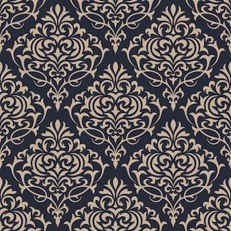Damast naadloos patroon. klassiek luxe ornamentbehang.