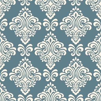 Damast naadloos patroon. klassiek luxe ouderwets damast ornament