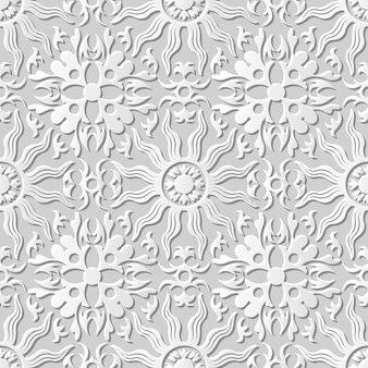 Damast naadloze 3d-papier kunst spiral cross sun