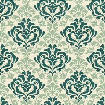Damast naadloze patroon achtergrond. het klassieke ornament van het luxe ouderwetse damast