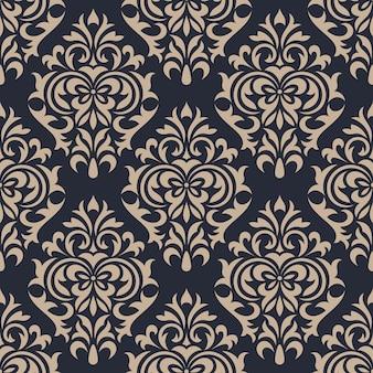 Damast naadloze patroon achtergrond. klassiek luxe ornament behang