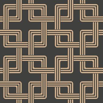 Damast naadloze retro patroon achtergrond oosterse vierkante geometrie cross frame ketting.