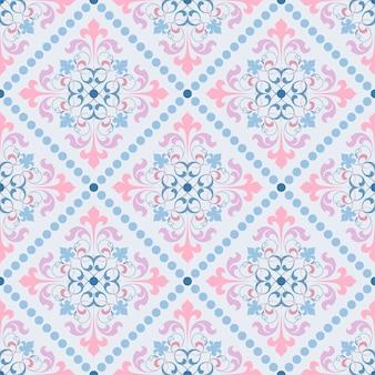 Damast vector klassiek patroon
