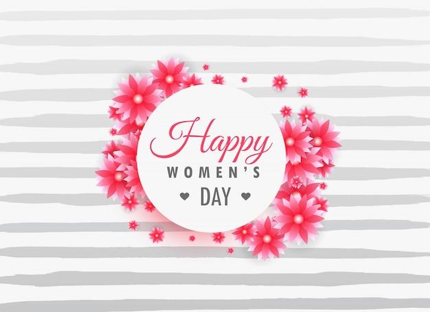 Dames dag 8 maart belettering op mooie bloemen