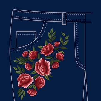 Dames jeans broek