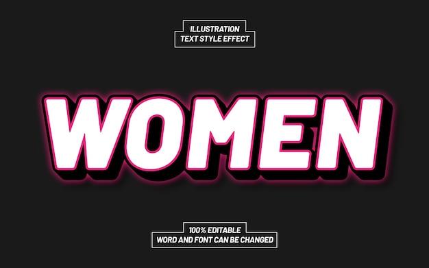 Dames roze tekststijleffect