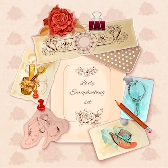 Dames scrapbooking set