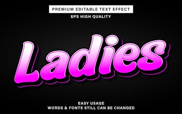 Dames stijl tekst effect