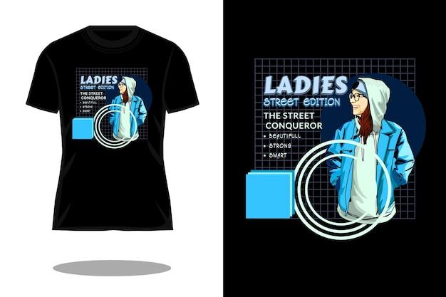 Dames street veroveraar streetwear t-shirtontwerp