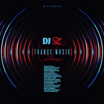 Dance muziek club partij vector poster