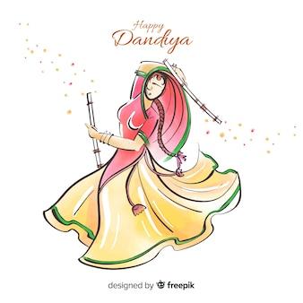 Dandiya-danser