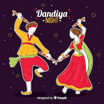 Dandiya-dansers