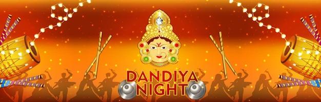 Dandiya nachtviering banner of koptekst