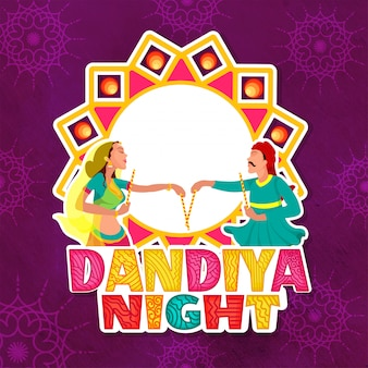 Dandiya night concept.