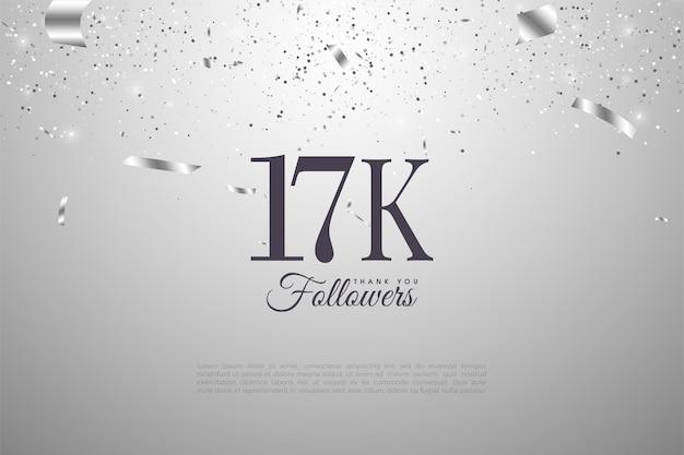 Dank aan 17.000 volgers met nummers vergezeld van zilveren linten