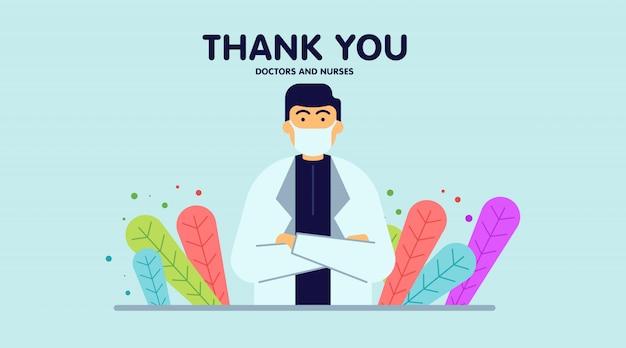 Dank u artsen en verpleegstersillustratie