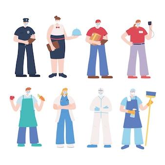 Dank u essentiële arbeiders