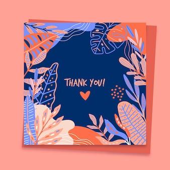 Dank u kaartsjabloon