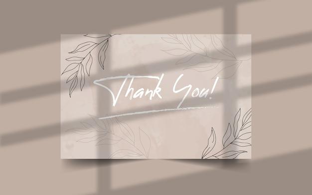 Dank u minimalistische bruiloft kaartsjabloon