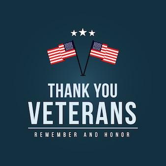Dank u veteranen logo sjabloon