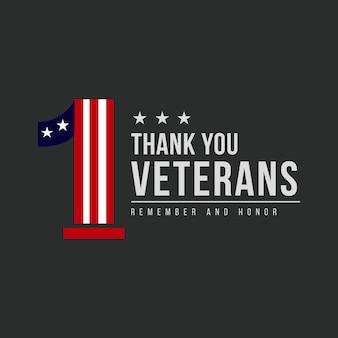 Dank u veteranen sjabloon