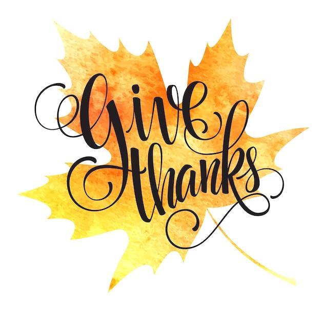 Dankzeggingsachtergrond. aquarel herfstbladeren. vectorillustratie eps 10